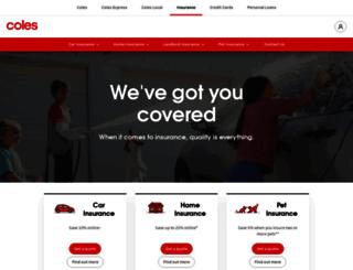 colesinsurance.com.au screenshot