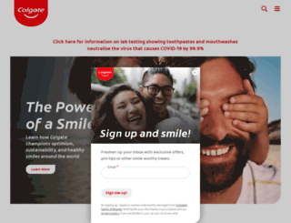 colgate.com.sg screenshot