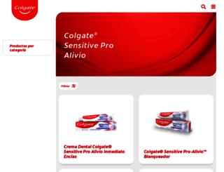 colgateproalivio.com.ar screenshot