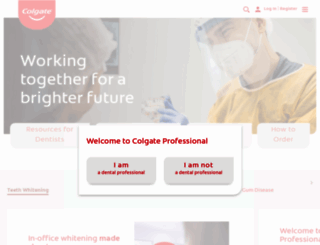 colgateprofessional.com screenshot