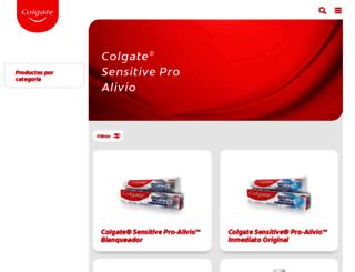colgatesensitiveproalivio.com.mx screenshot