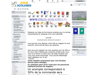 colis-scolaires.fr screenshot
