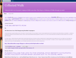 collectedwalk.blogspot.com screenshot