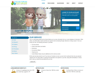 collectiblesdatabase.com screenshot