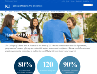 college.ku.edu screenshot