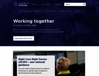 college.police.uk screenshot