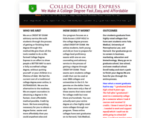 collegedegreeexpress.com screenshot