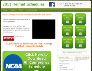 collegefootballhelmetschedule.com screenshot