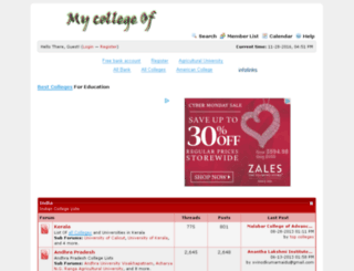 collegeof.info screenshot