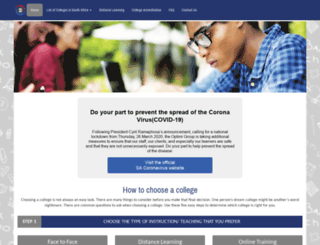 colleges.co.za screenshot
