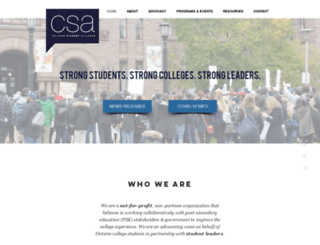 collegestudentalliance.ca screenshot