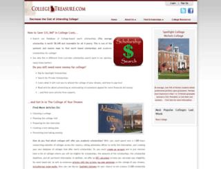 collegetreasure.com screenshot