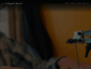 collegiateschool.org screenshot