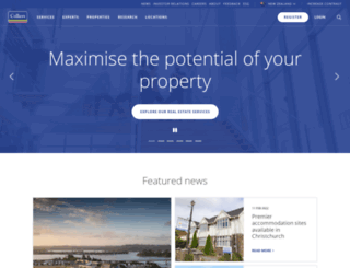 colliers.co.nz screenshot