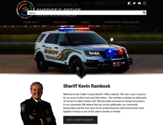 colliersheriff.org screenshot