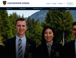 collingwood.org screenshot