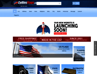 collinsflags.com screenshot