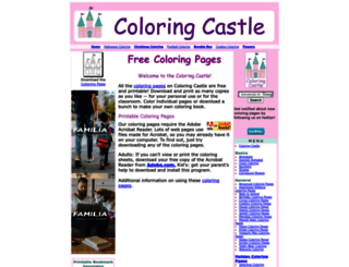 coloringcastle.com screenshot