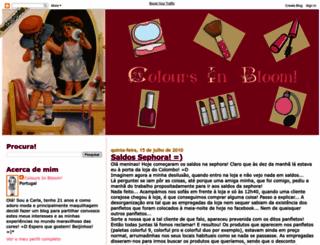 coloursinbloom.blogspot.com screenshot