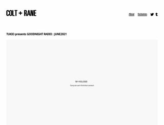 colt-rane.com screenshot