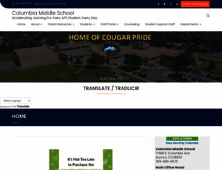 columbia.aurorak12.org screenshot