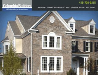 columbiabuildersinc.com screenshot
