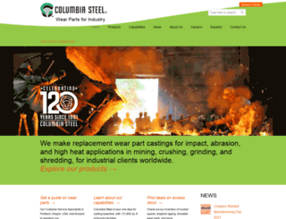 columbiasteel.com screenshot