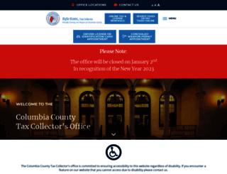 columbiataxcollector.com screenshot