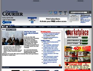 columbinecourier.com screenshot