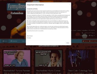 columbus.comedyreservations.com screenshot