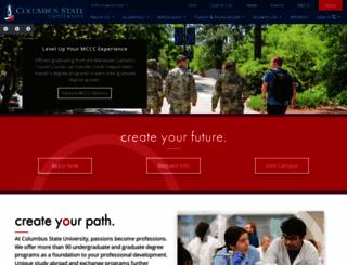 columbusstate.edu screenshot