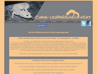 coma-leopardgeckos.at screenshot