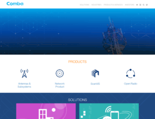 comba-telecom.com screenshot