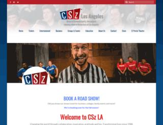 comedysportzla.com screenshot