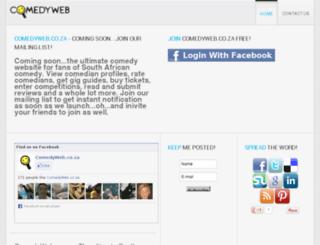 comedyweb.co.za screenshot