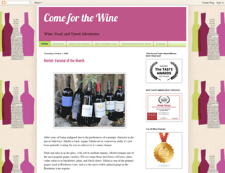 comeforthewine.com screenshot