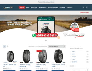 comercialdaher.cl screenshot