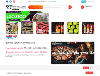 comerciemos.com screenshot