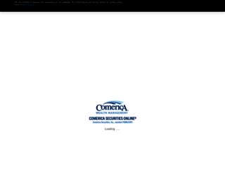 comerica.netxinvestor.com screenshot