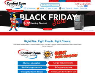 comfort-zonehvac.com screenshot