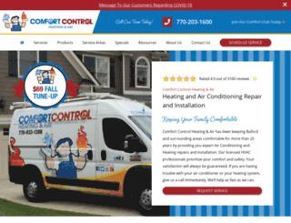 comfortcontrolinc.com screenshot