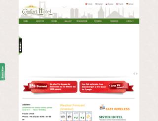 comforthoteltaksim.com screenshot