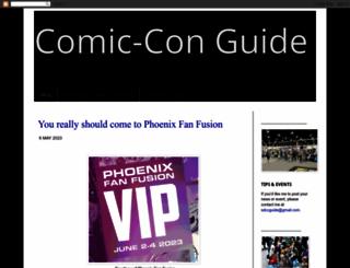 comicconguide.com screenshot