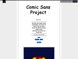 comicsansproject.tumblr.com screenshot