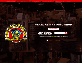 comicshoplocator.com screenshot