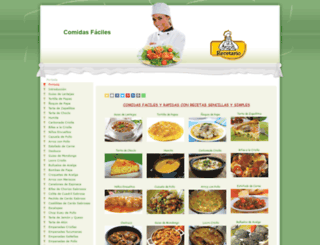 comidas-faciles.com.ar screenshot