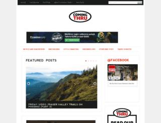 comingthru.com screenshot