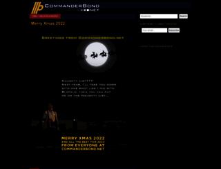 commanderbond.net screenshot