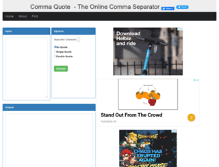 commaquote.com screenshot