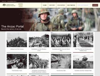 commemoration.gov.au screenshot